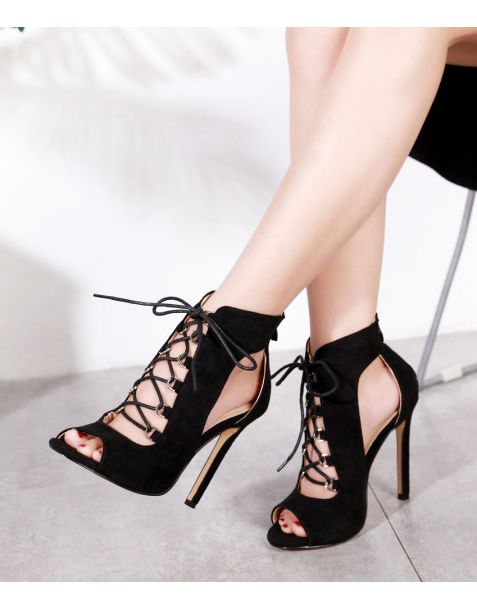 Regatta - Gladiator Cross Strap High Heels Sandals