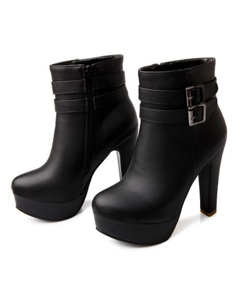 Chittenden Avenue - Leather Sexy Platform Ankle Boots