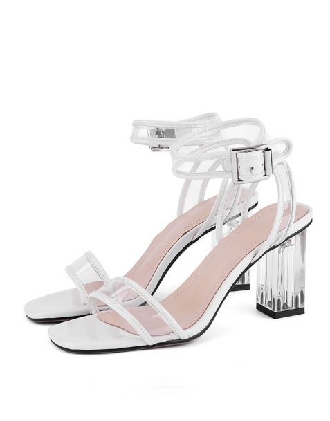 Judith - Leather Ankle Strap High Heels Sandals