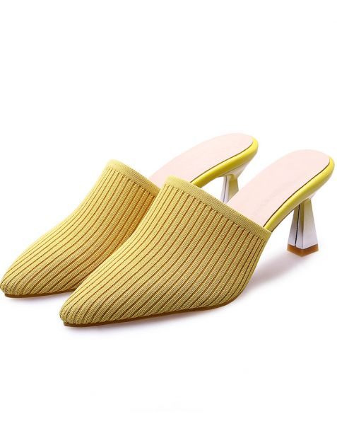 Amanda Yellow fashionable high heels