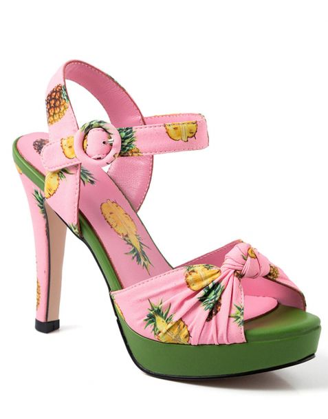 Corso Giacomo Matteotti Pink Ankle Strap High Heels Sandals