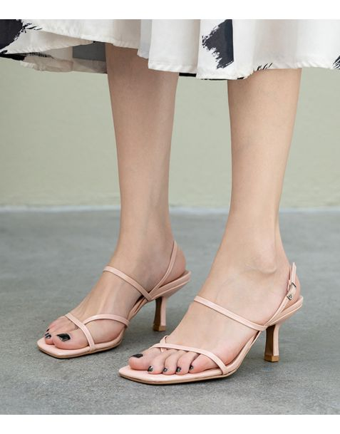 Bethany Ave Ankle Strap High Heels Sandals