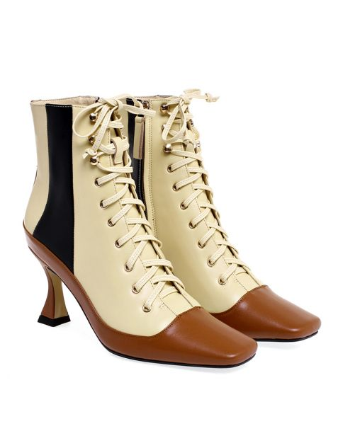 Amanda Leather Ankle Boots