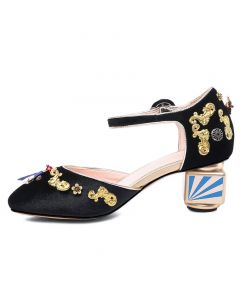 Fort Valley - Fashion Ankle Strap Low Heels Sandals
